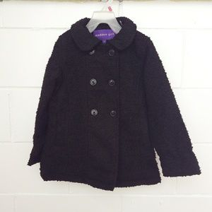 Madden Girl Kids PeaCoat Faux Wool Textured Size6